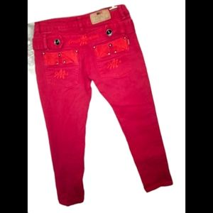 Tommy Hilfiger red crop jeans. Size 29